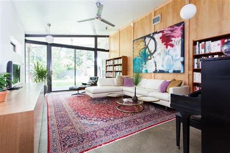 Vintage Home Interiors by Colorful Midcentury Modern Family Room 2014 Hgtv