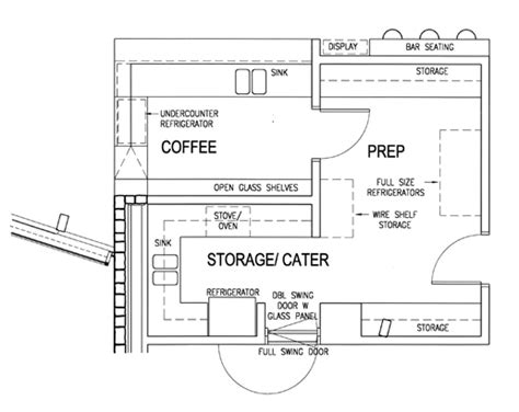 bar floor plan design coffee bar floor plan