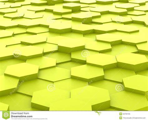 yellow hexagon pattern block background of 3d yellow hexagon blocks