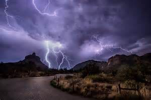 Light Red Discharge Thunderstorms
