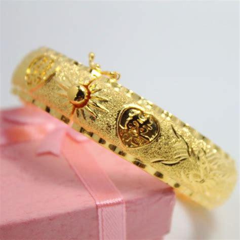 Bangle Hongkong 24k 10 730 Gram popular models plated 24k gold bracelet ring wedding wedding bridal jewelry simulation