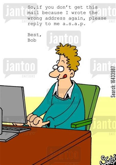 yahoo email reply to wrong address email address cartoons humor from jantoo cartoons