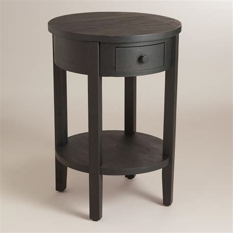 round black accent table antique black round juliet accent table world market