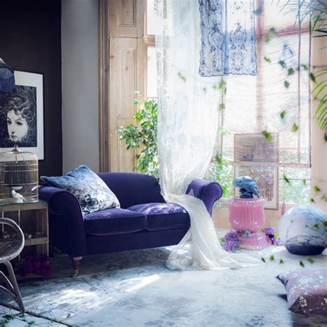 purple living room ideas ideal home mysterious purple living room modern decorating ideas