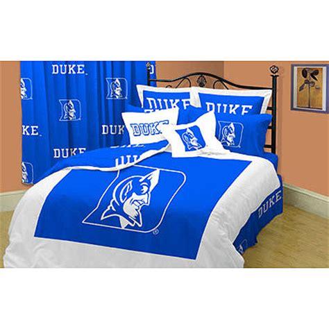 duke bedding set duke blue devils 100 cotton sateen full comforter set