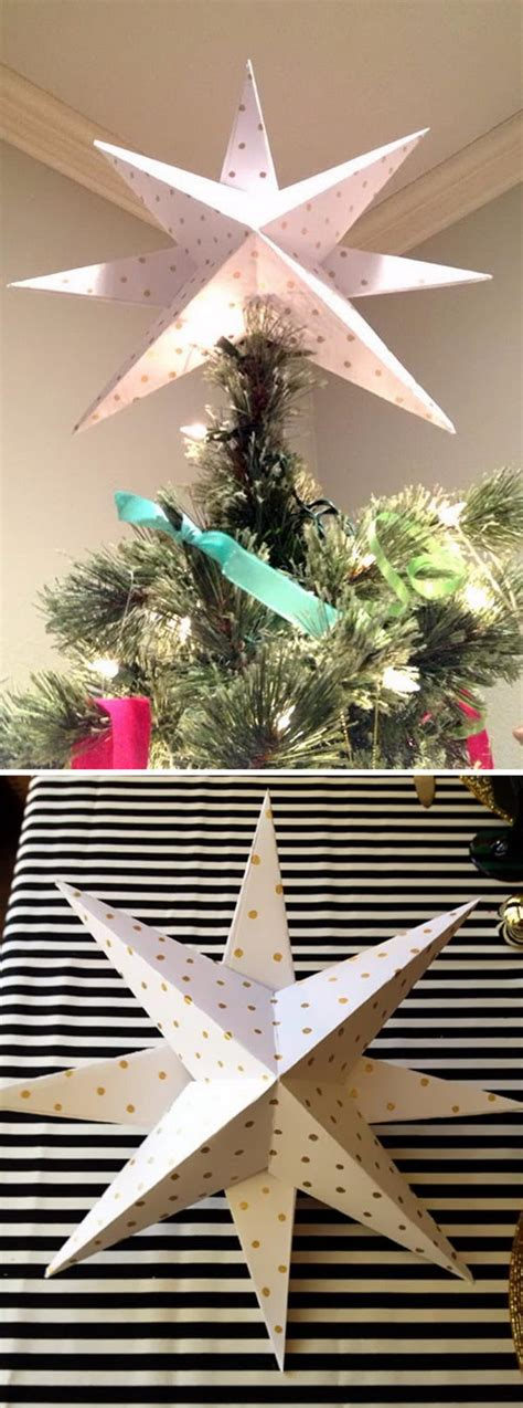 make your own christmas tree topper awesome diy tree topper ideas tutorials hative