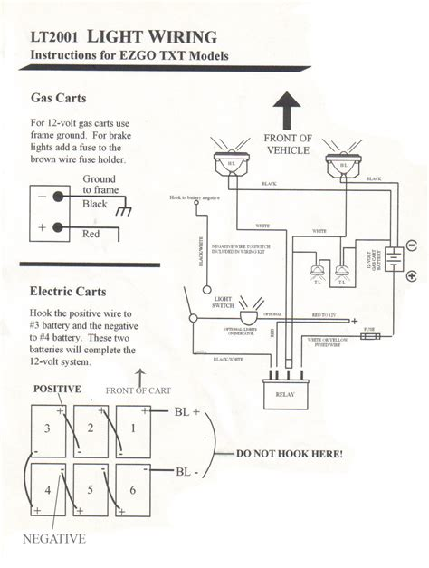96 ezgo golf cart wiring diagram ezgo headlight wiring