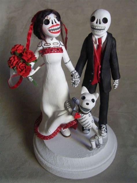 sugar wedding cake toppers sugar skulls cake topper weddings