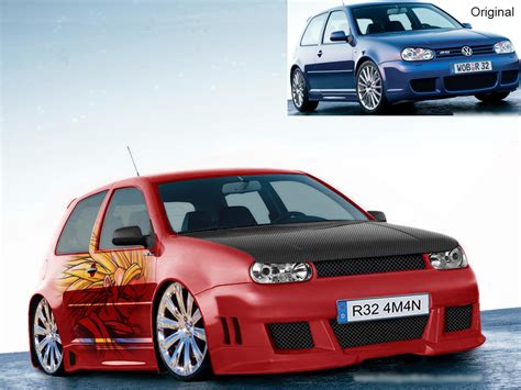 Modded Golf R by Vw Golf Mk4 R32 Photoshop Modded Kitted Up By