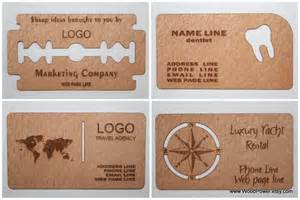 wooden business cards wooden business card unique design set of 100 custom