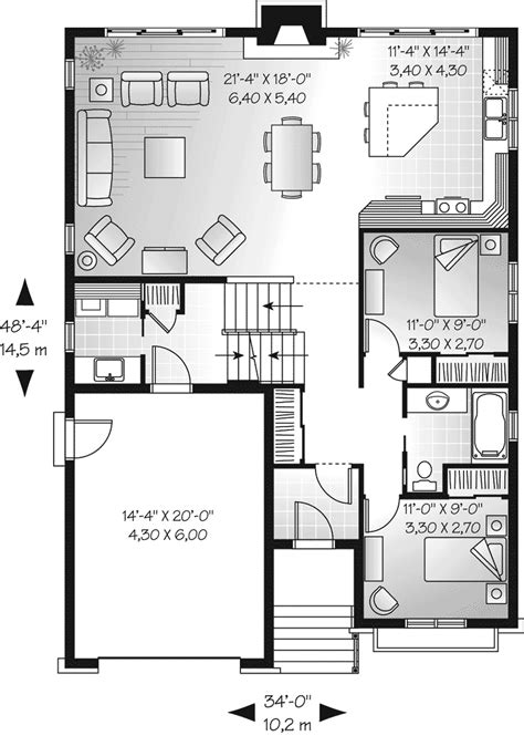 Houseplans And More Saddlepost Split Level Home Plan 032d 0673 House Plans And More