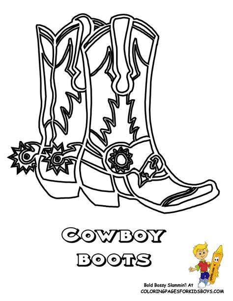 cowboy boots coloring page coloring home