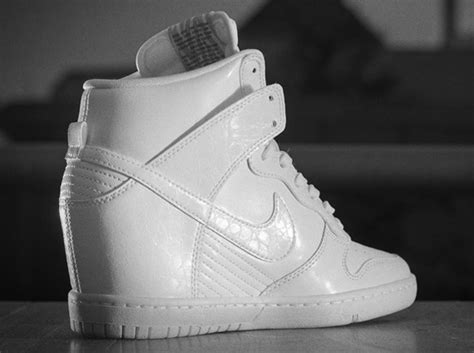 Nike Wedges White nike dunk sky hi white cool grey sneakernews