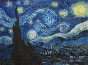 Starry painting the starry night van gogh copy by troy wilfong