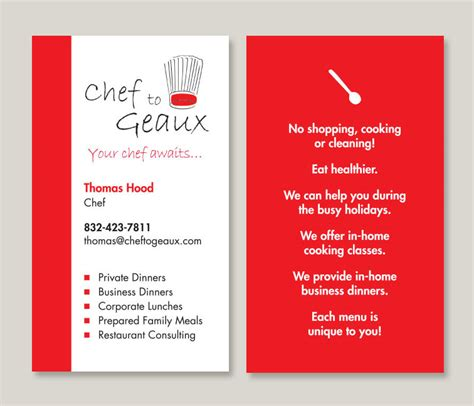 Chef Card Template by Chef Business Cards Creative Business Cards For Chefs