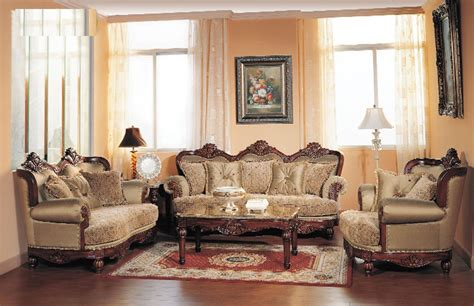 Fancy Living Room Sets - formal traditional cherry fabric sofa set chair