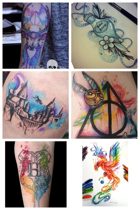 theme tattoo harry potter themed sleeve designs harry potter