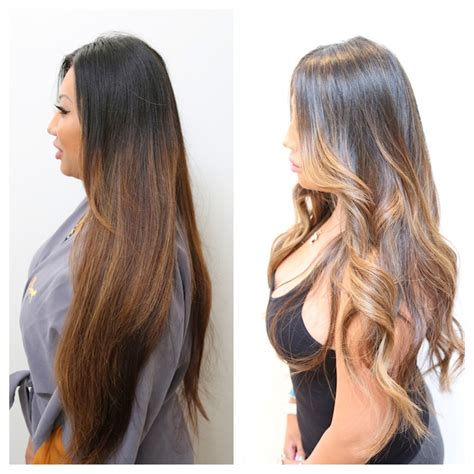 best blonde caramel highlights with ombre ombre hair color hair color rehab