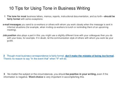 6 Kinds Of Business Letters According To Purpose how to use tone in writing