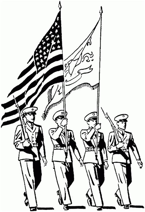 armed forces day coloring pages free large images