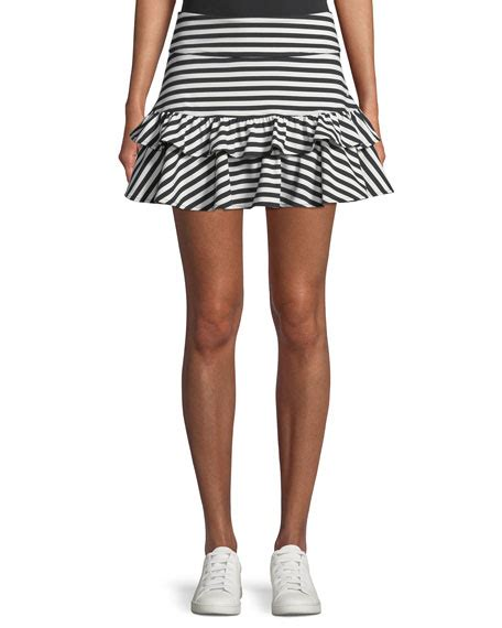 Mini Dress Bordir Rufle Stripe kate spade new york stripe ruffle mini skirt neiman