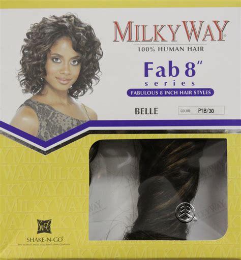 milky way hair belle shake n go milky way 100 human hair fab 8 series belle