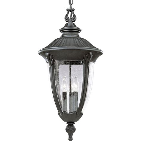 24 Pendant Light Shop Progress Lighting Meridian 24 37 In Textured Black Outdoor Pendant Light At Lowes
