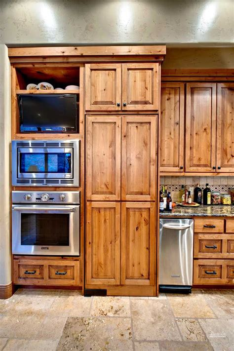 knotty wood kitchen cabinets cabinets knotty alder kitchen alder pinterest