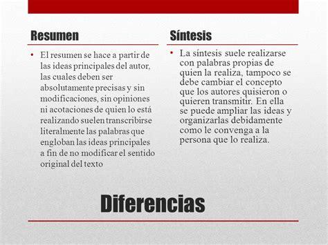 Resumen Y Sintesis diferencia entre resumen y s 237 ntesis ppt