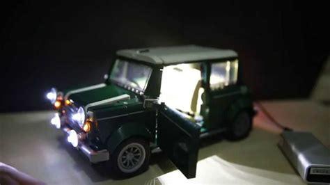 Led Usb Light Set Lego Mini Cooper 10242 lego 10242 creator mini cooper liteupblock led usb kit review