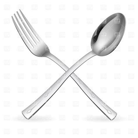 spoon and fork crossed fork and spoon 7795 objects royalty