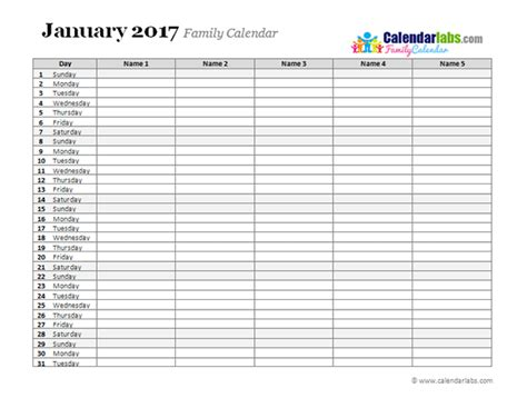 2017 monthly planner template free printable templates