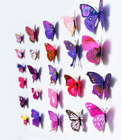 blue 12 pcs 3d butterfly 12pcs pvc 3d butterfly wall decor butterflies wall
