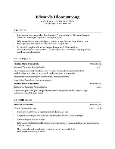 resume templates open office free 8 free openoffice resume templates ott format