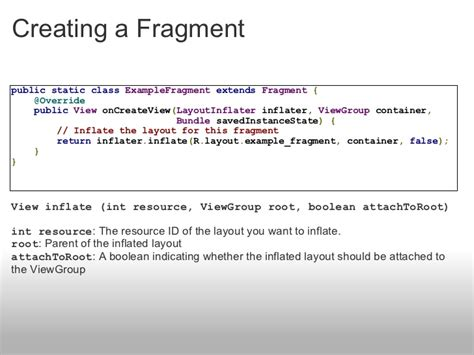 layoutinflater meaning introduction to android fragments