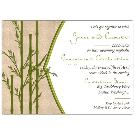 Bamboo En Ement Invitations Paperstyle