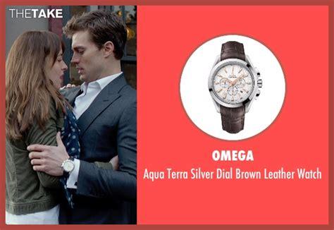 jamie dornan watch jamie dornan omega aqua terra silver dial brown leather