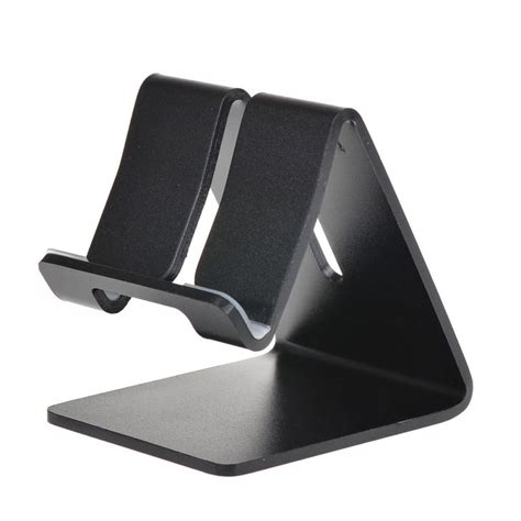 cell phone stand for aluminum alloy desktop phone stand holder mount black