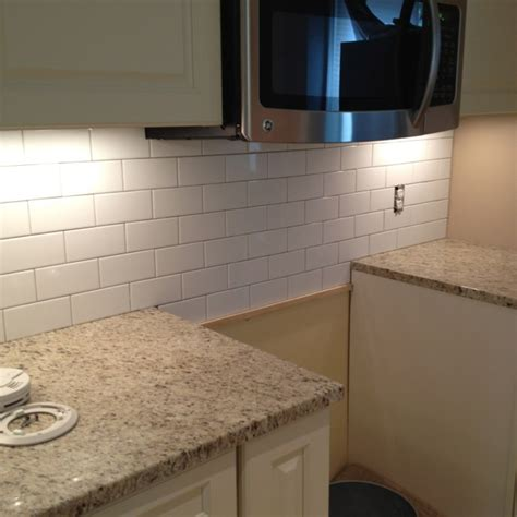 subway tile backsplash pre grout my galley kitchen