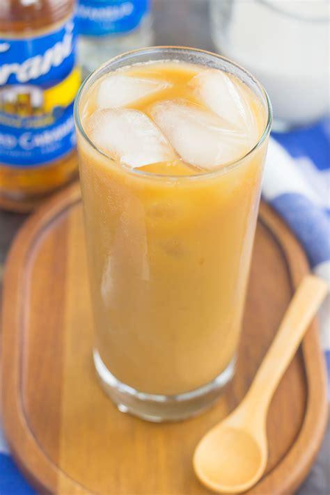 Caramel Almond salted caramel almond iced coffee pumpkin n spice