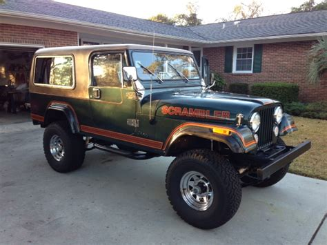 jeep scrambler hardtop 1984 jeep cj8 scrambler with full hard top and hard doors
