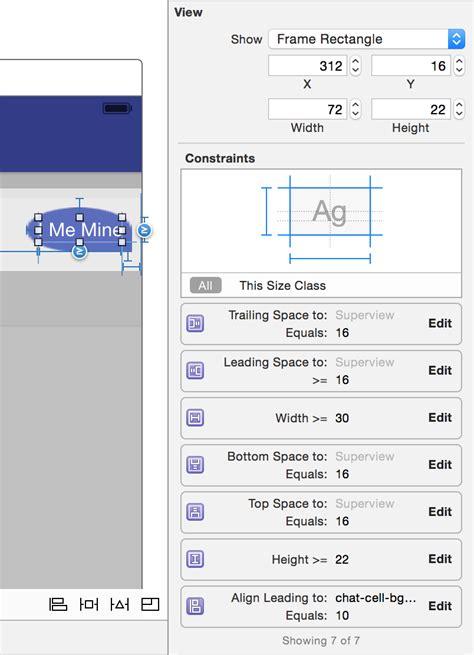 xcode set layout constraints что такое автолэйаут