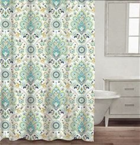 turquoise and green curtains max studio home 100 percent cotton shower curtain moroccan