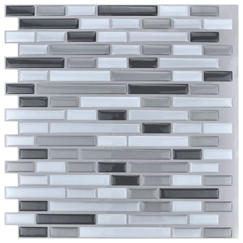kitchen backsplash tiles peel and stick peel and stick kitchen backsplash wall tiles 12 quot x12 quot 10 sheets contemporary wall panels