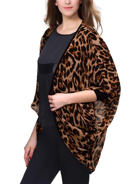 Leopard Print Summer by Summer Leopard Print Chiffon Tunic Kimono