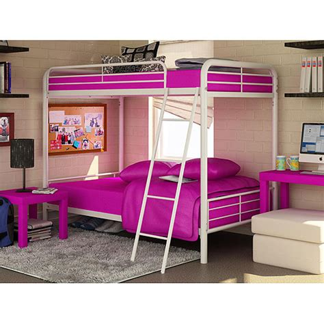 bunk beds for teenagers dorel twin over twin metal bunk bed white kids teen