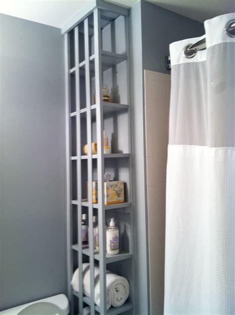 Built In Shelves In Bathroom Built In Bathroom Shelves Bathroom Pinterest