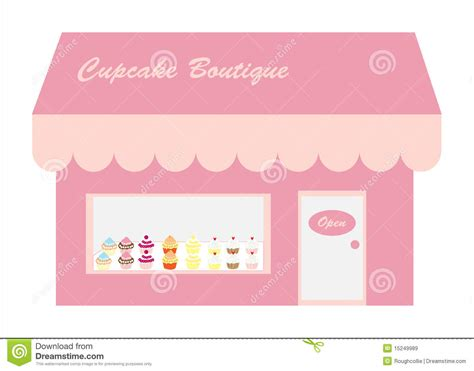 Pink By Z Shop cupcakes store shop logo stock illustration image of