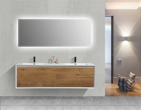 White Modern Bathroom Vanity by Aquamoon Icon White Collection Modern Sink