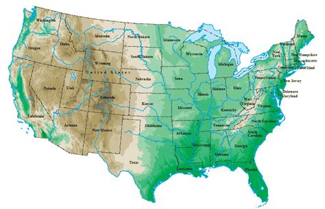 topographical map of united states united states map topographical map
